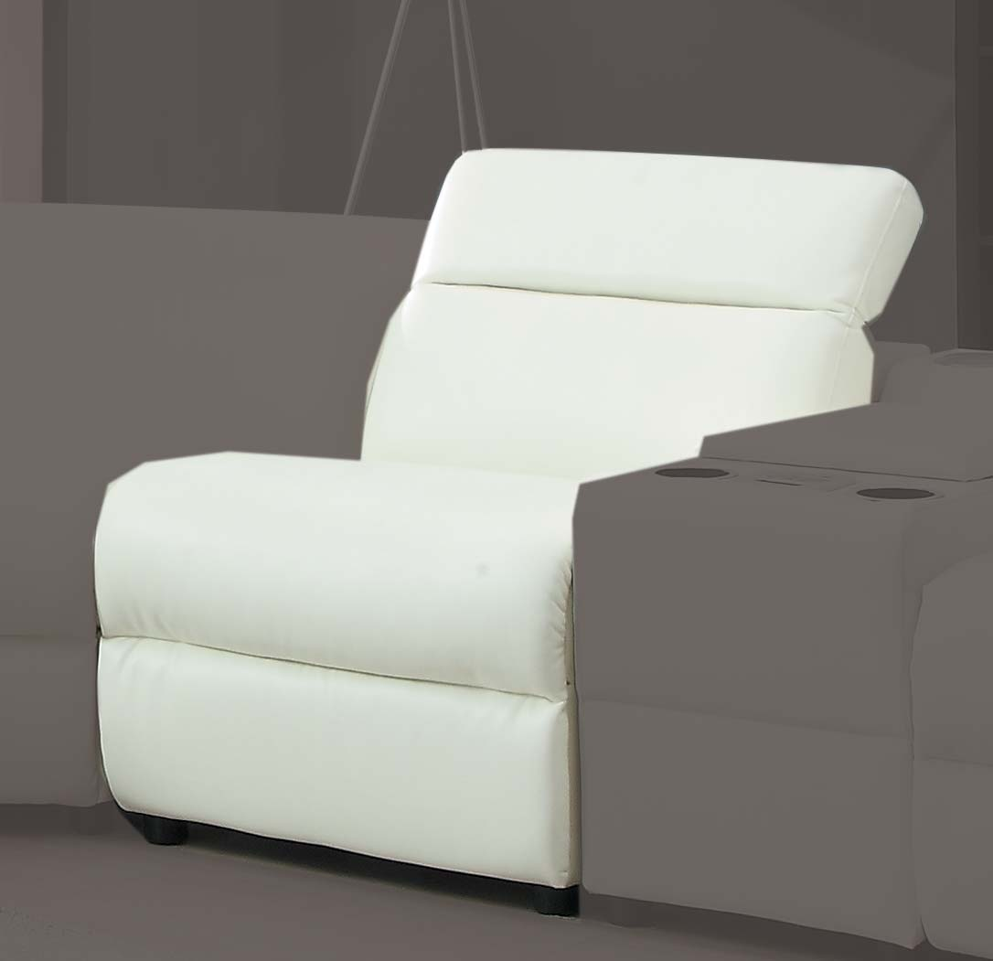 Homelegance Instrumental Armless Chair - White - Bonded Leather Match