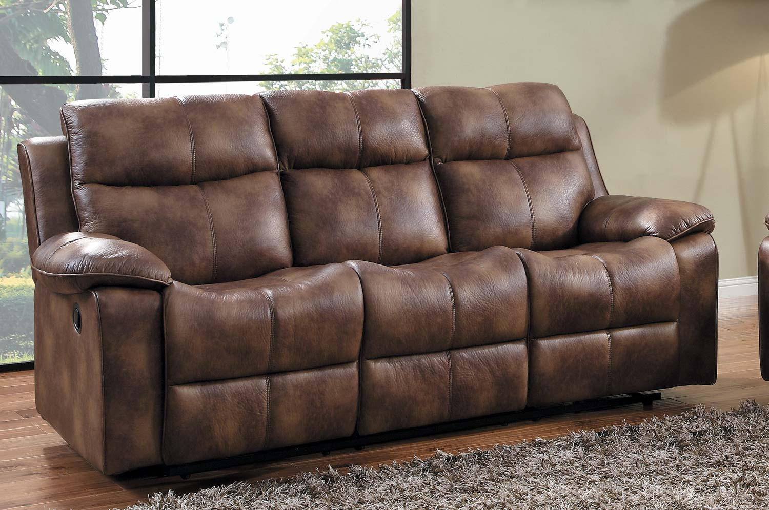 Homelegance Brooklyn Heights Double Recliner Sofa - Polished Microfiber & Homelegance Brooklyn Heights Double Recliner Sofa - Polished ... islam-shia.org