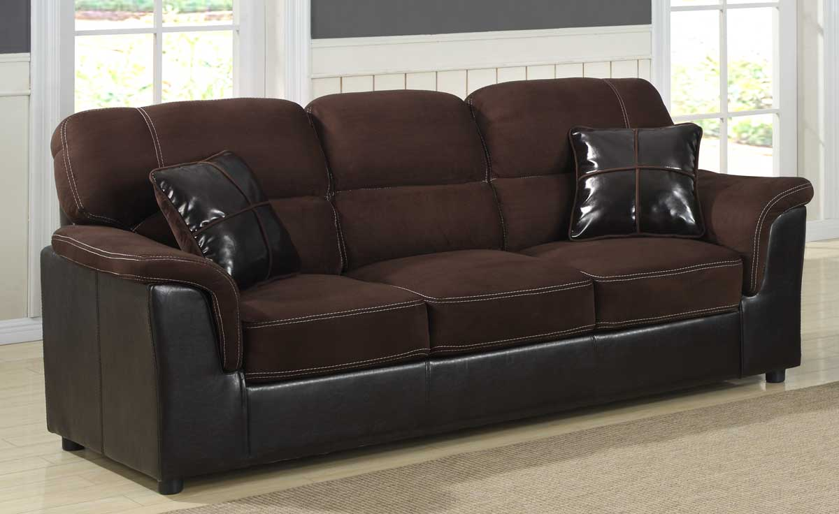 Homelegance Lombard Sofa - Microfiber and Bi-Cast