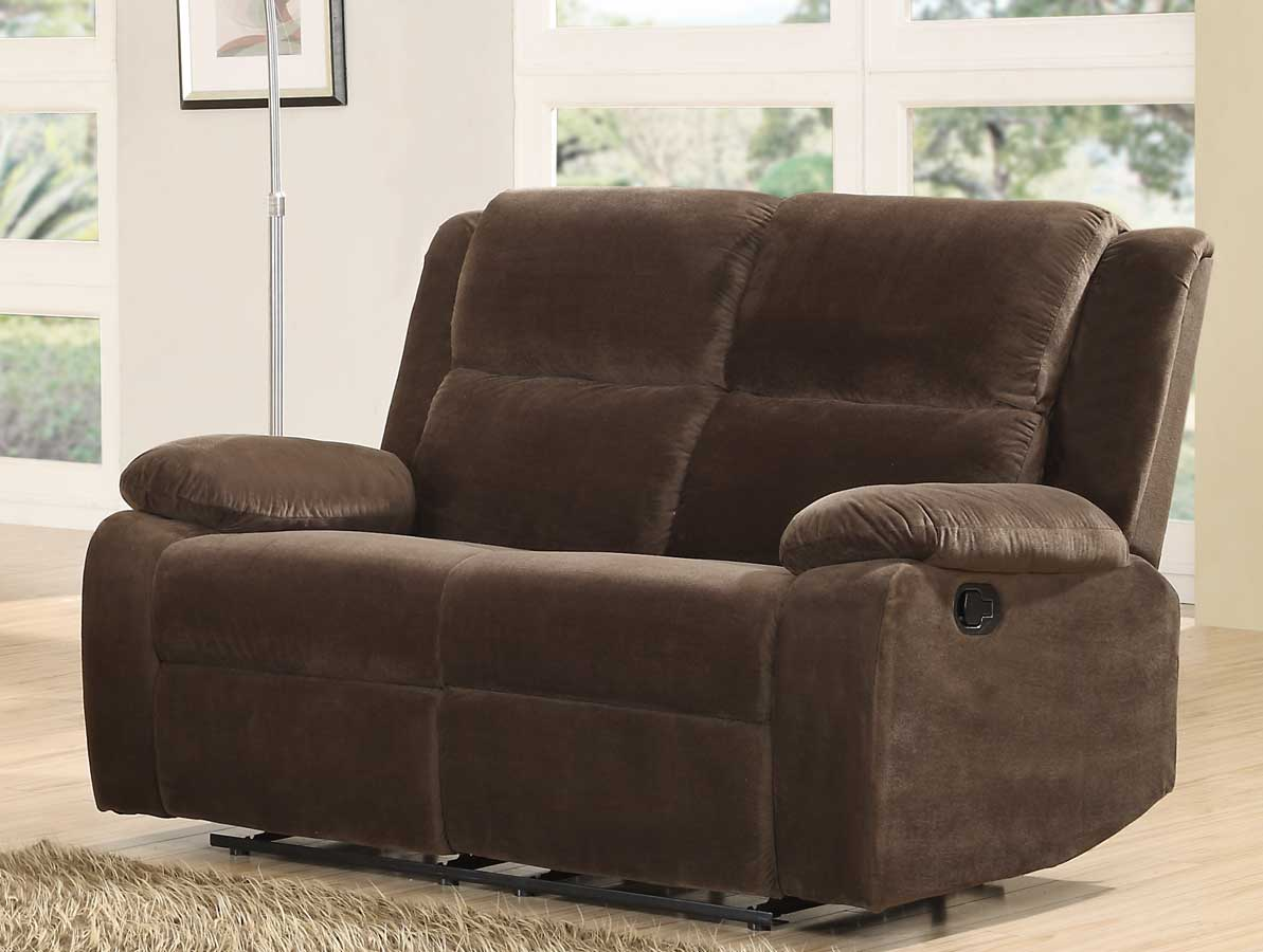 Homelegance Snyder Double Reclining Love Seat - Coffee Microfiber