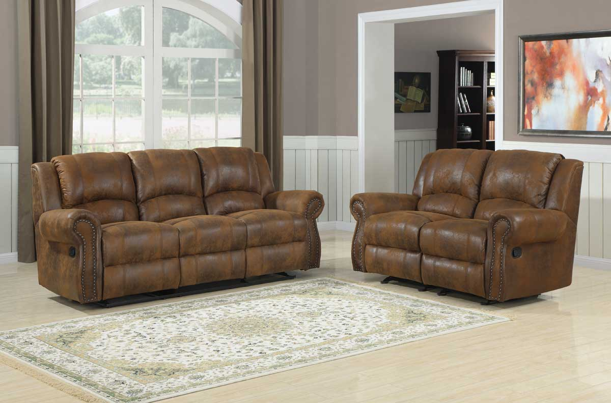 Homelegance quinn reclining sofa set bomber jacket microfiber u9708bj 3 Microfiber sofa and loveseat set