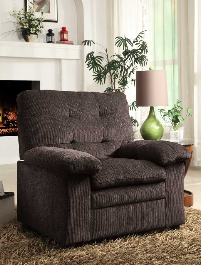 Homelegance Charley Chair - Chocolate Chenille