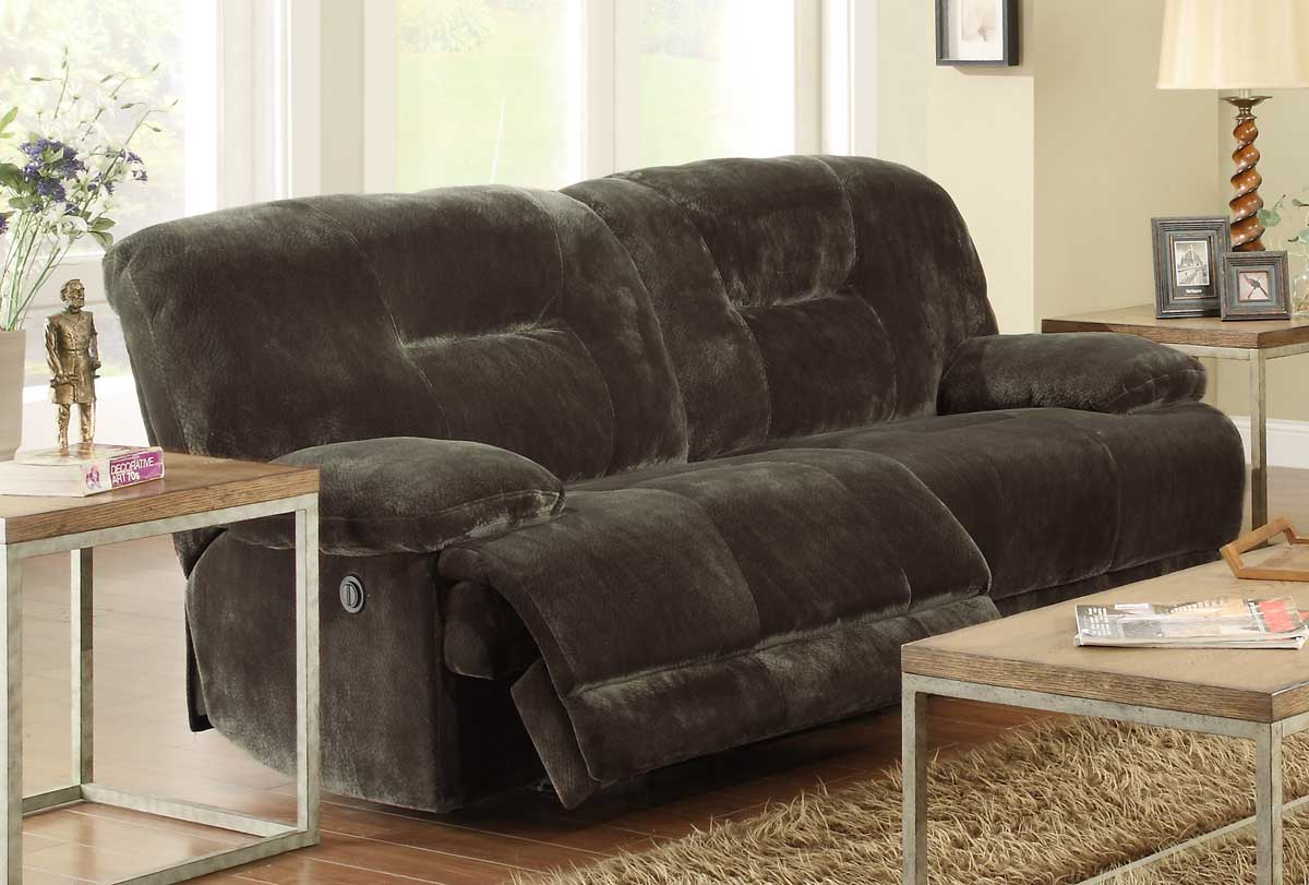 Beau Homelegance Geoffrey Power Double Reclining Sofa