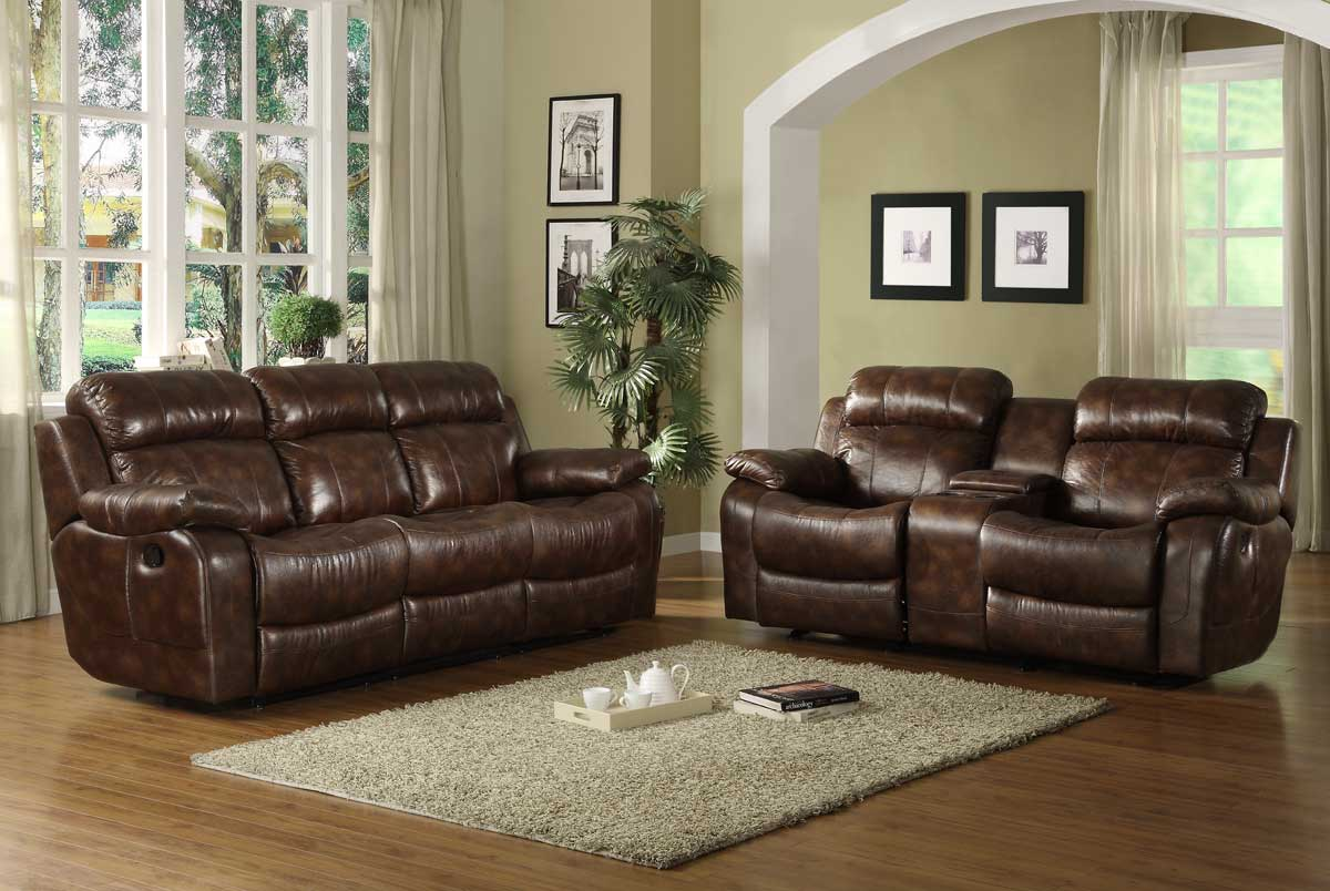 Microfiber Living Room Set Homelegance Marille Reclining Sofa Set Polished Microfiber
