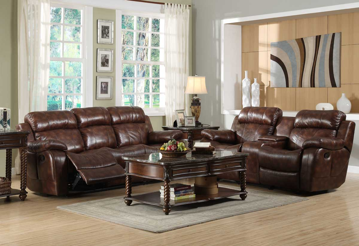 Homelegance Marille Reclining Sofa Set - Polished Microfiber - Homelegance Marille Reclining Sofa Set - Polished Microfiber