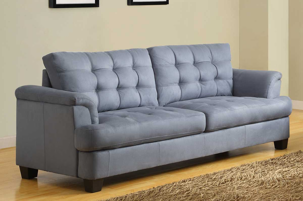 Amazing Homelegance St. Charles Sofa   Blue Gray