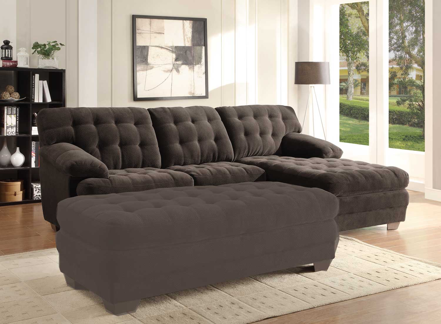 Homelegance Minnis Sectional Sofa - Chocolate