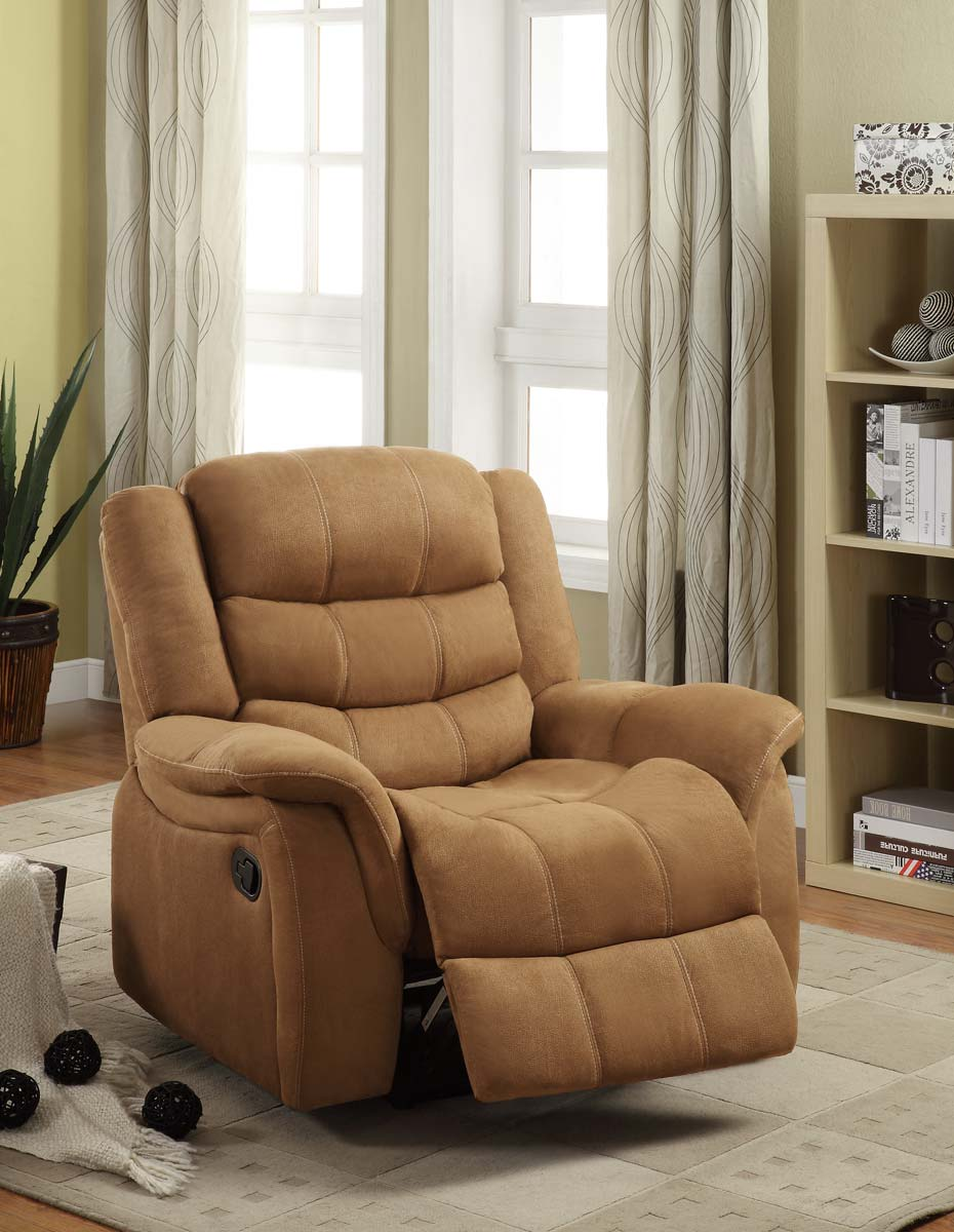 Homelegance Huxley Chair Glider Recliner - Brown