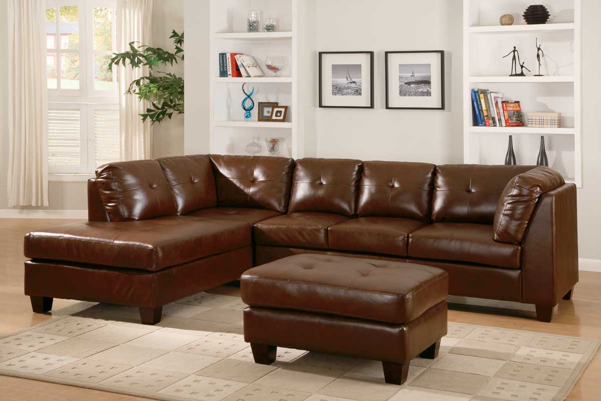 Homelegance Morgan Sectional Brown