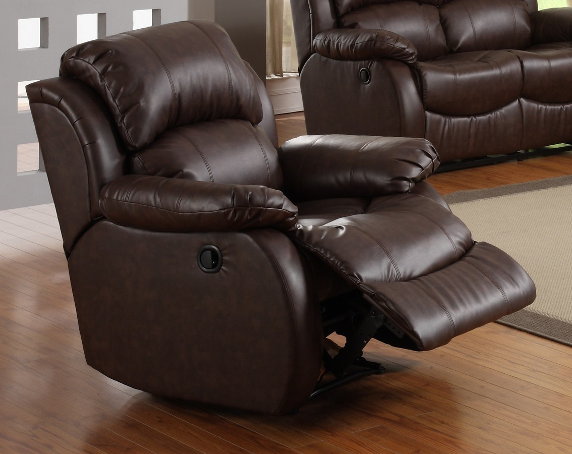 Homelegance McGraw Rocker Recliner Chair in Bonded Leather