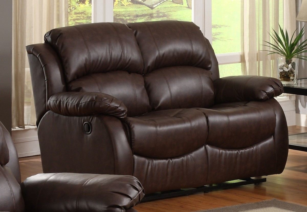 Homelegance McGraw Motion Reclining Love Seat in Bonded Leather