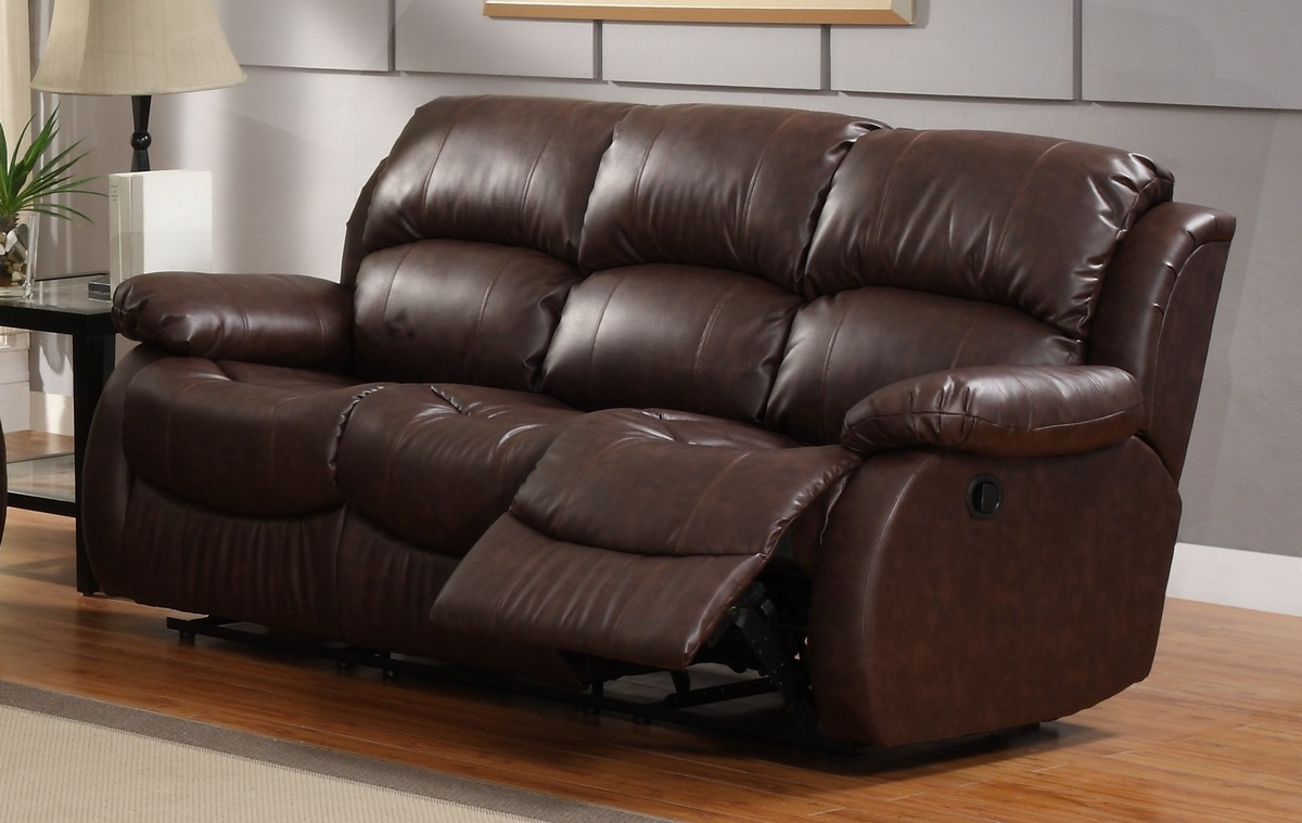Homelegance McGraw Motion Reclining Sofa in Bonded Leather