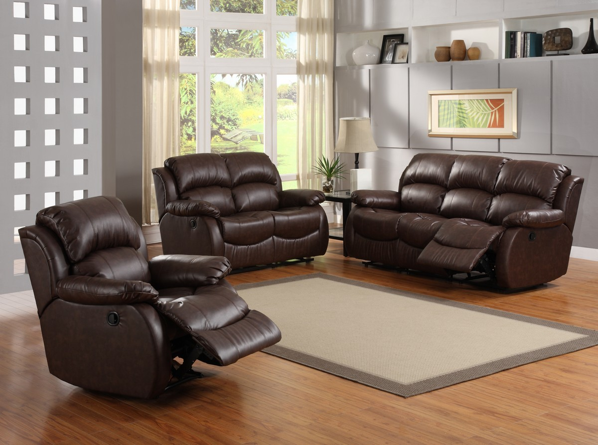 Homelegance mcgraw motion reclining sofa set u9887 sofa for Couch sofa set