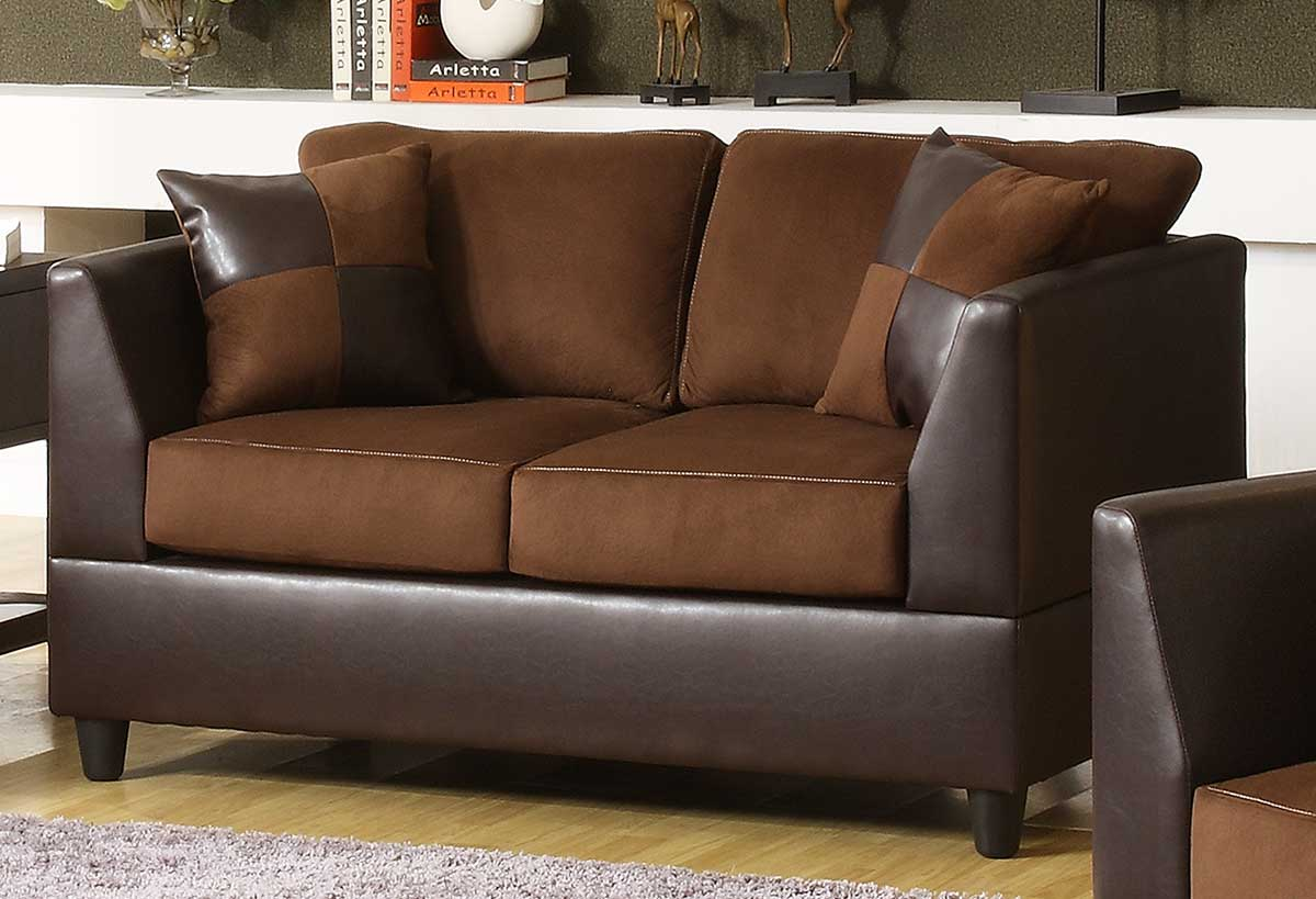 Homelegance sundance sofa collection u9908ch Brown microfiber couch and loveseat