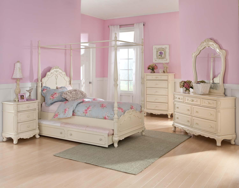 Homelegance Cinderella Poster Bedroom Set - Ecru