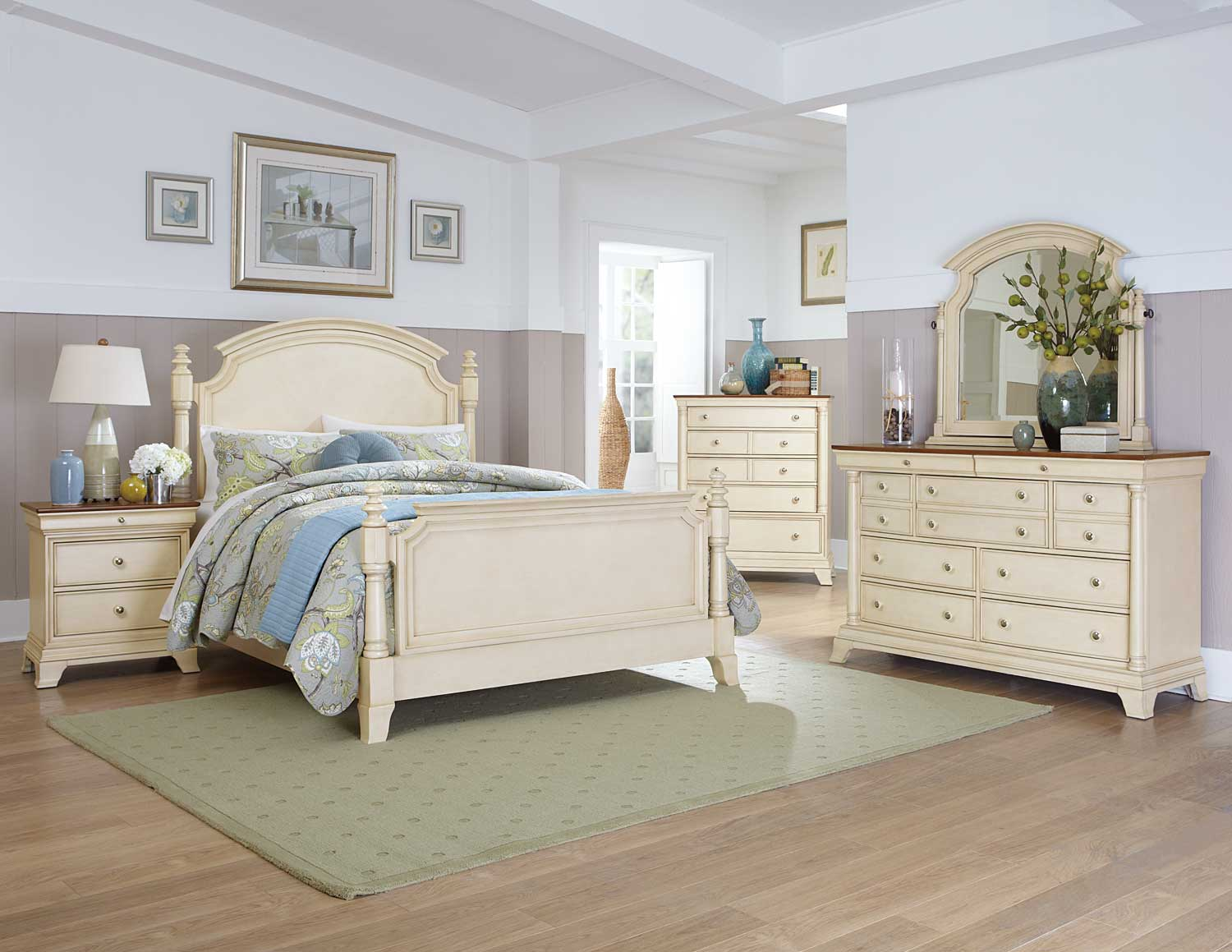 Homelegance Inglewood II Bedroom Set - White B1402W-BED-SET ...