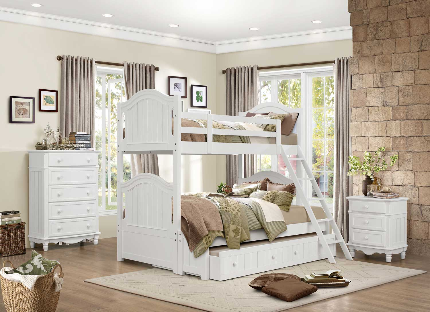 Homelegance Clementine Bunk Bedroom Set -