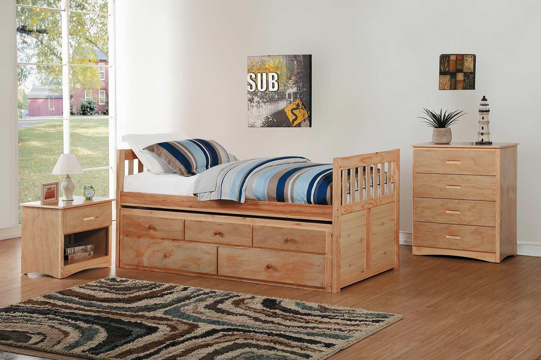 Homelegance Bartly Bedroom Set - Natural Pine