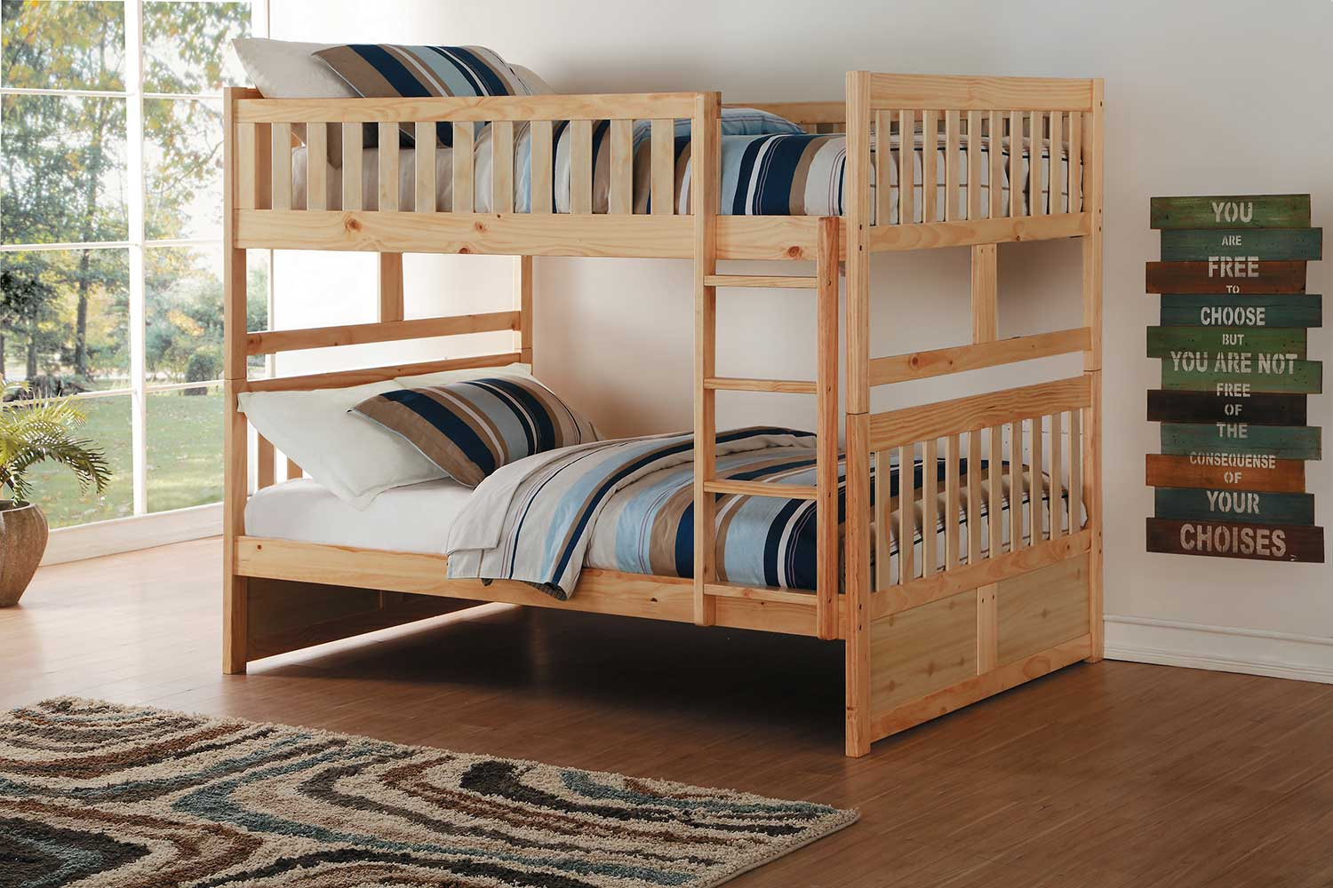 Homelegance Bartly Full over Full Bunk Bed - Natural Pine
