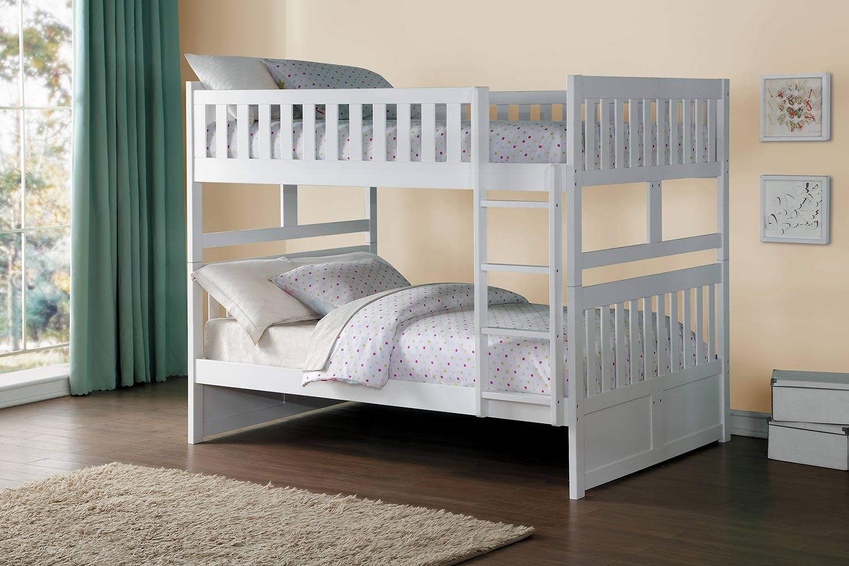 Homelegance Galen Full over Full Bunk Bed - White