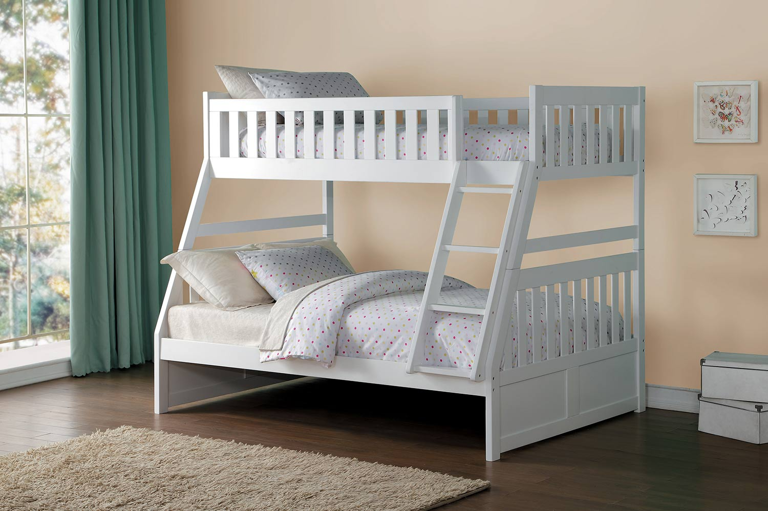 Homelegance Galen Twin over Full Bunk Bed - White
