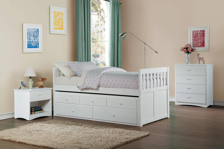 Homelegance Galen Bedroom Set - White