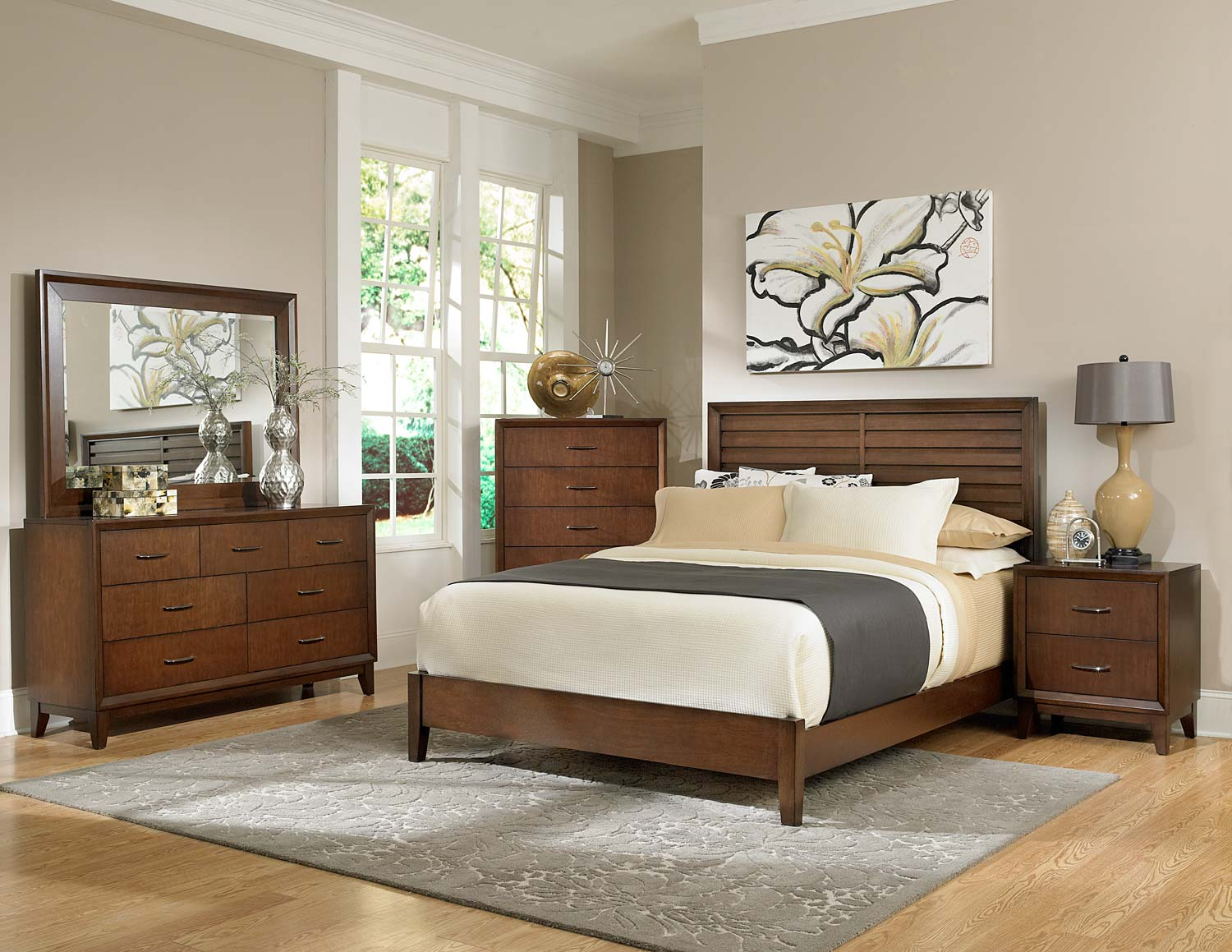 Homelegance Oliver Bedroom Set - Warm Brown Cherry B2189-BED-SET ...