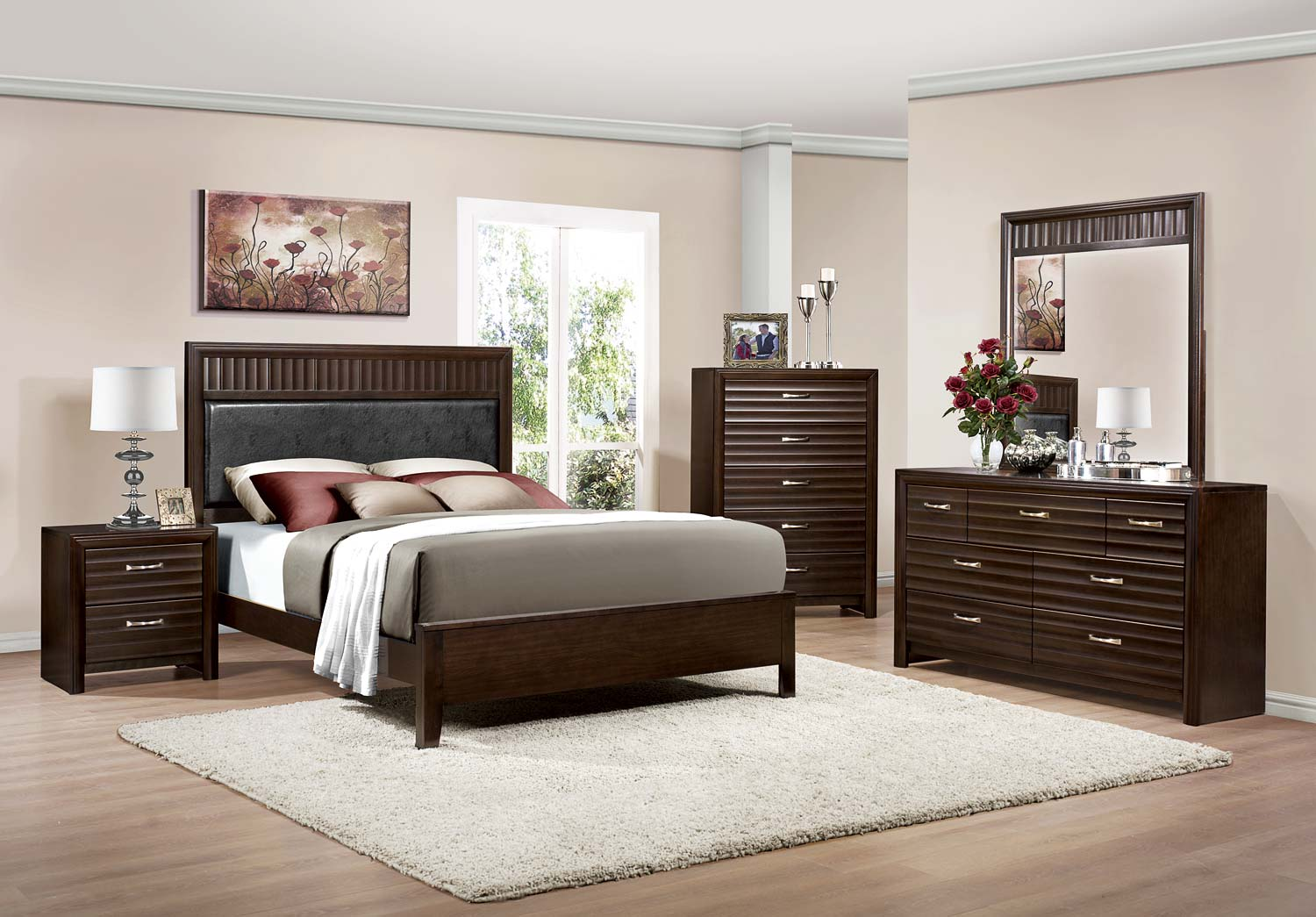 Homelegance Hilton Bedroom Set Espresso B2216 BED SET