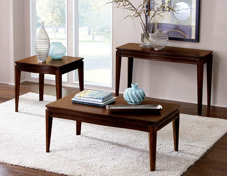 Homelegance Kasler Occasional Table Set - Medium Walnut
