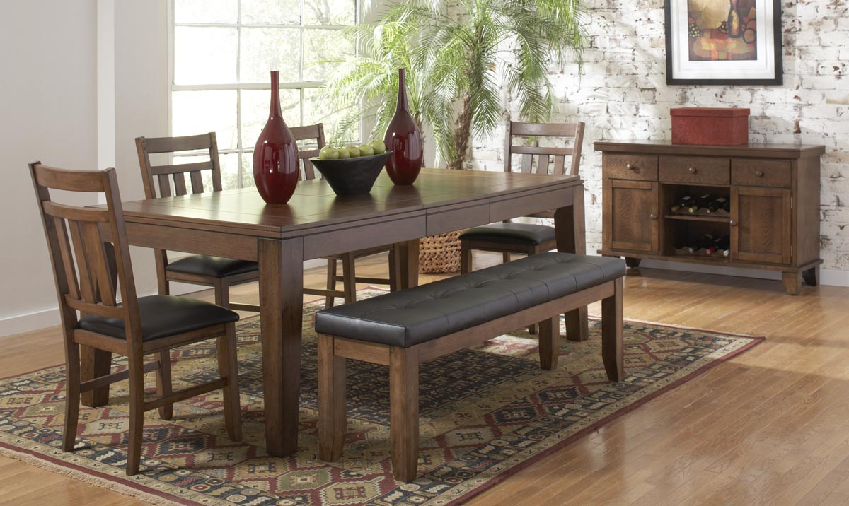 Homelegance Kirtland Dining Table With Butterfly Leaf
