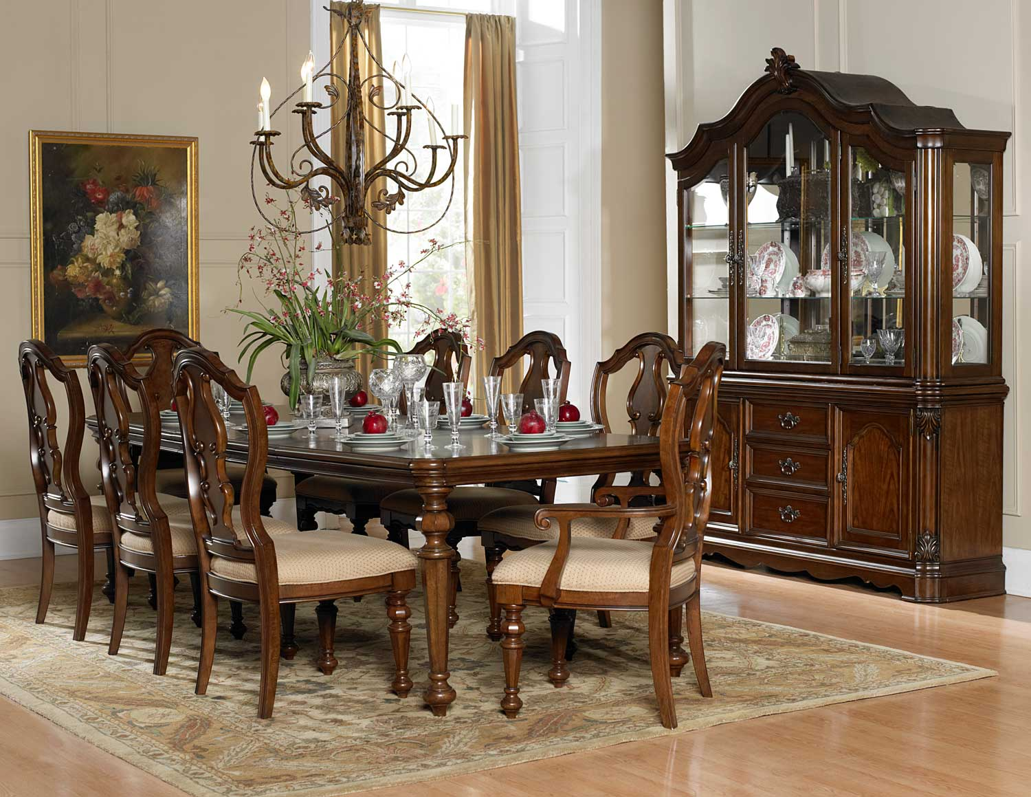 Homelegance Montrose Dining Set - Warm Brown