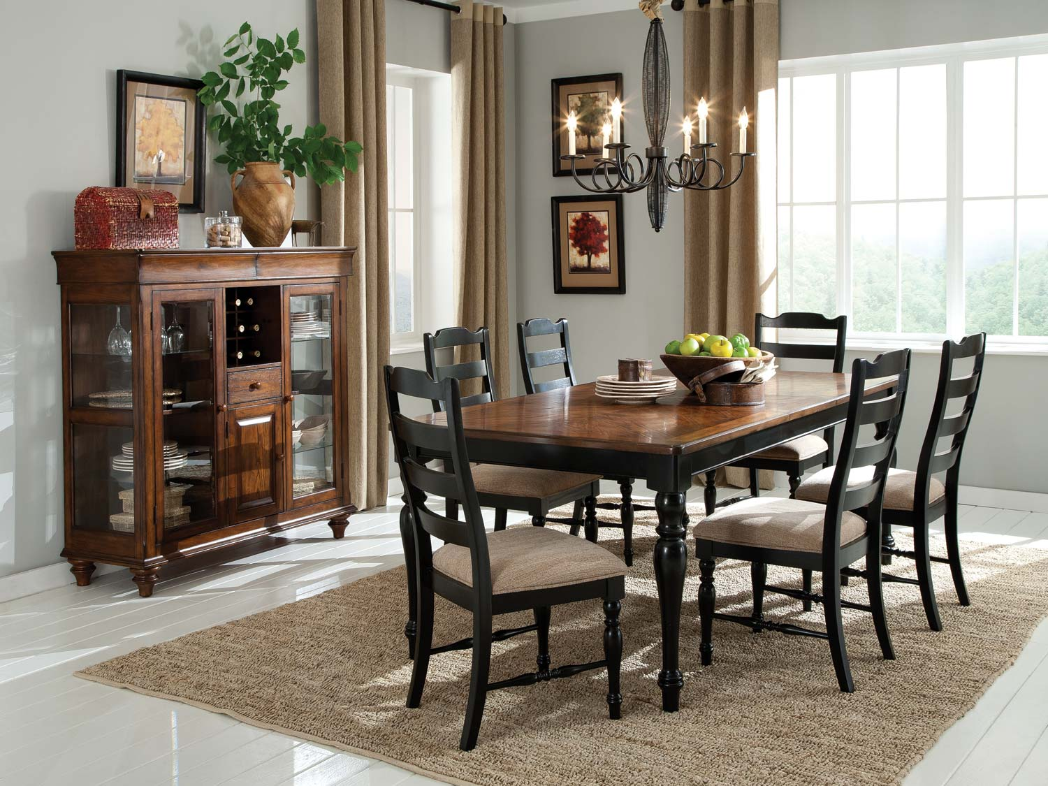 Homelegance McKean Dining Set - Oak