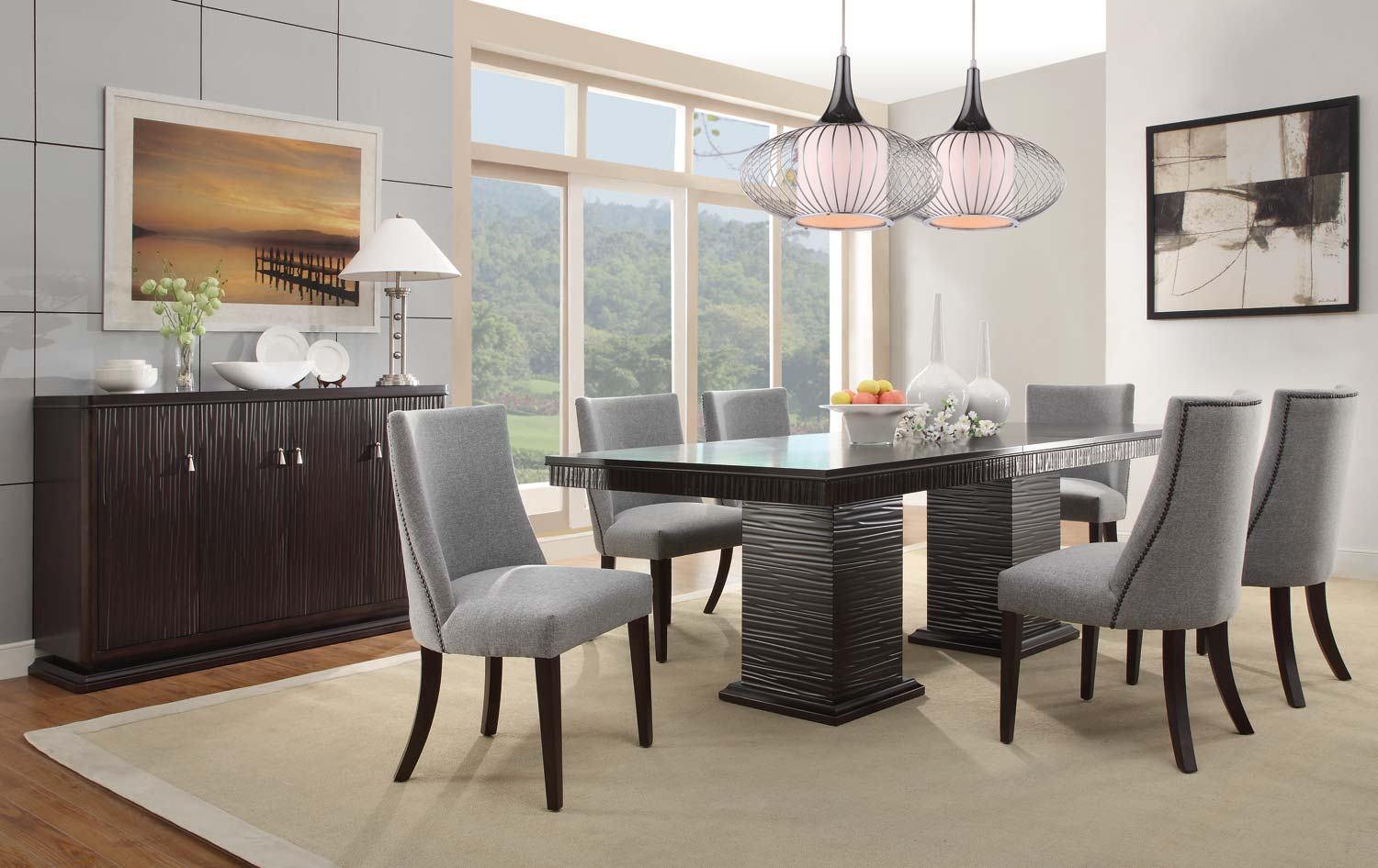 Attractive Homelegance Chicago Dining Set   Espresso