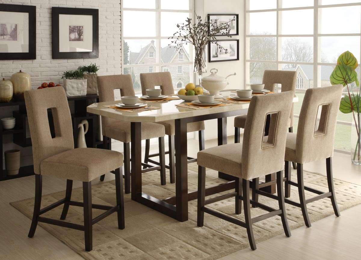 Homelegance reiss counter height dining set d3271 36 for Counter height dining set