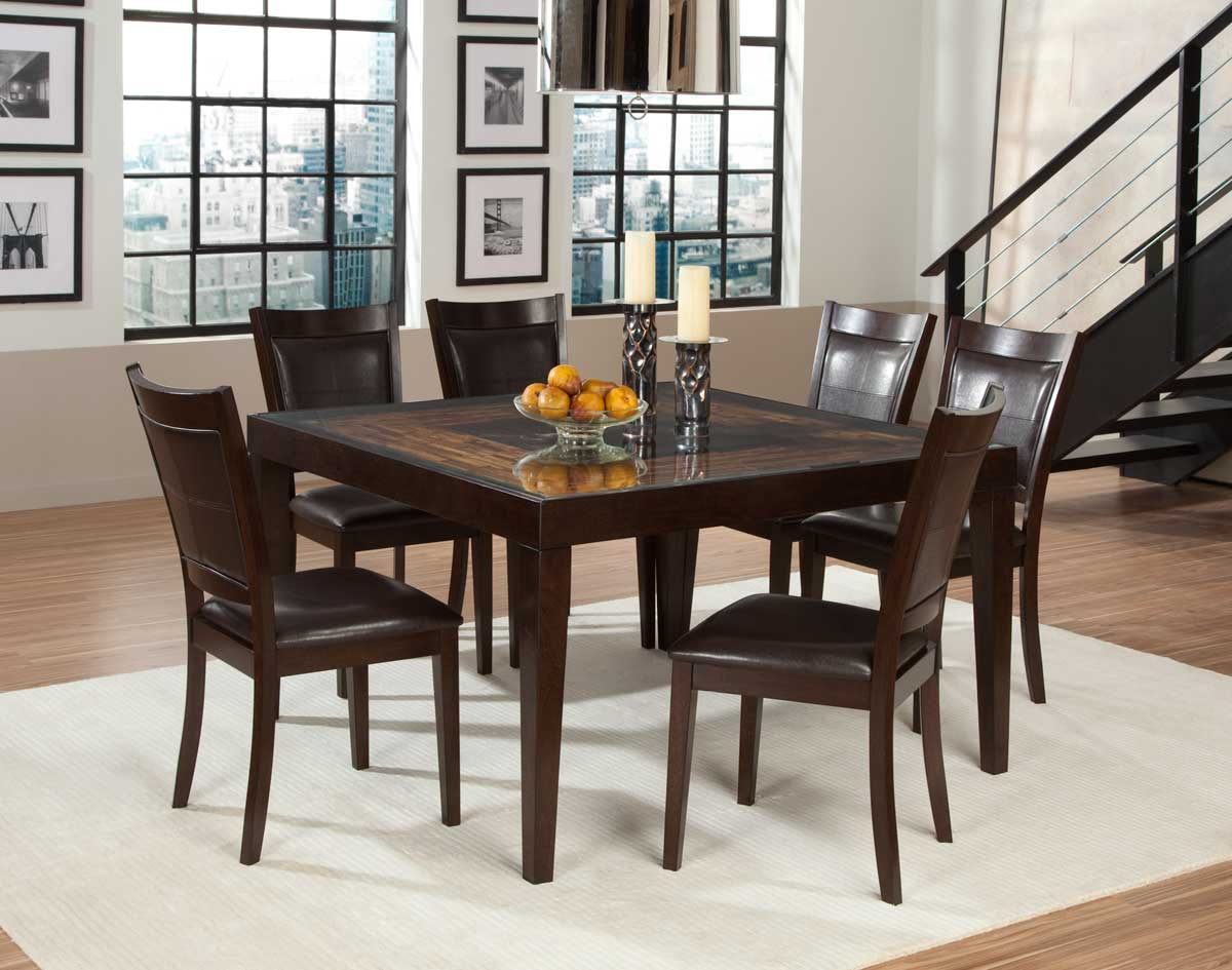 Homelegance Vincent Square Dining Set Mango And Acacia Wood D3299 52