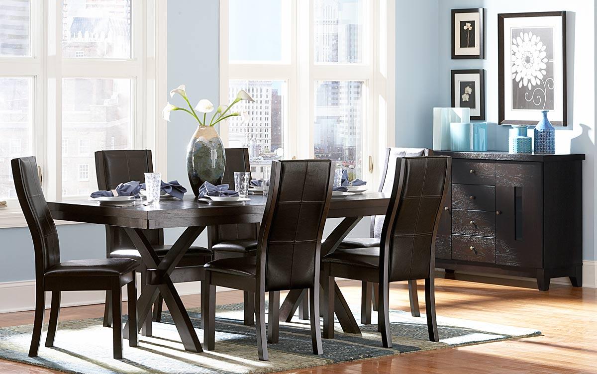 Homelegance Sherman Side Chair - Dark Brown Leatherette