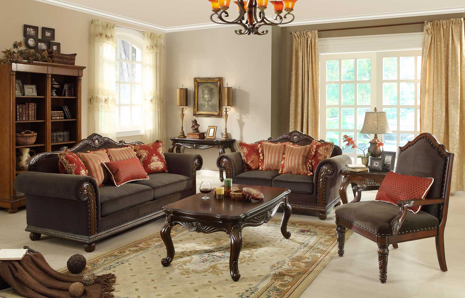 Homelegance Catalina II Sofa Set - Chocolate