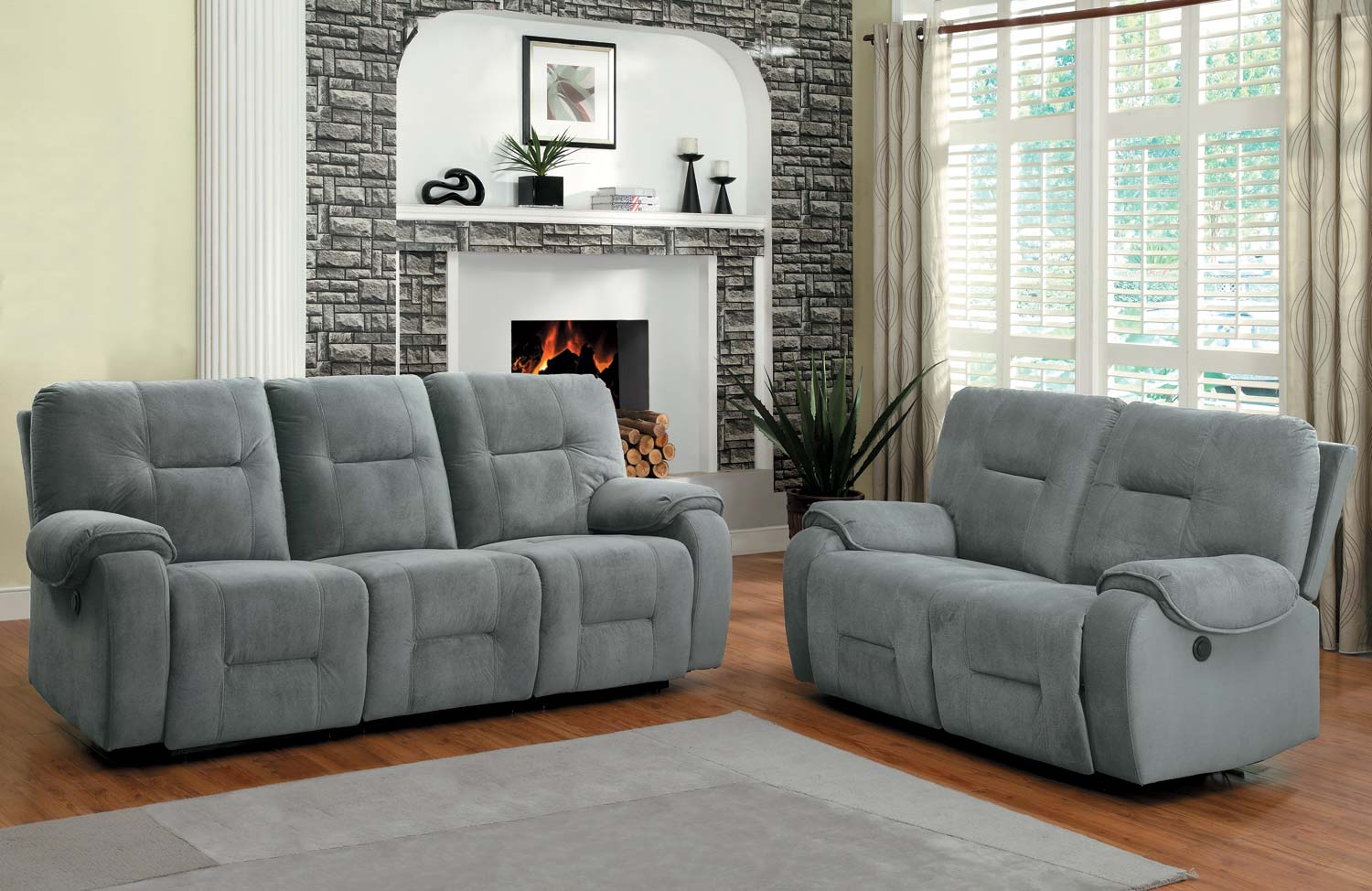 Homelegance Bensonhurst Power Reclining Sofa Set Blue  : HE U9634 3PW from www.homelegancefurnitureonline.com size 1500 x 974 jpeg 169kB