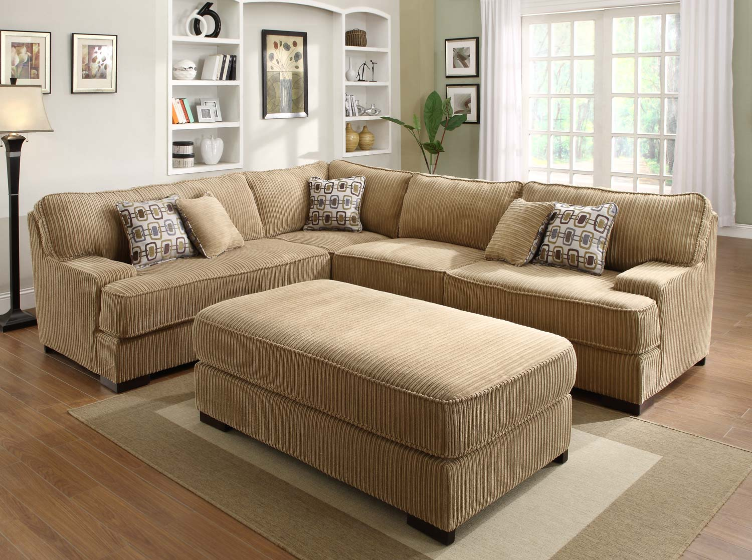Homelegance minnis sectional sofa set brown u9759 sect for Sectional furniture