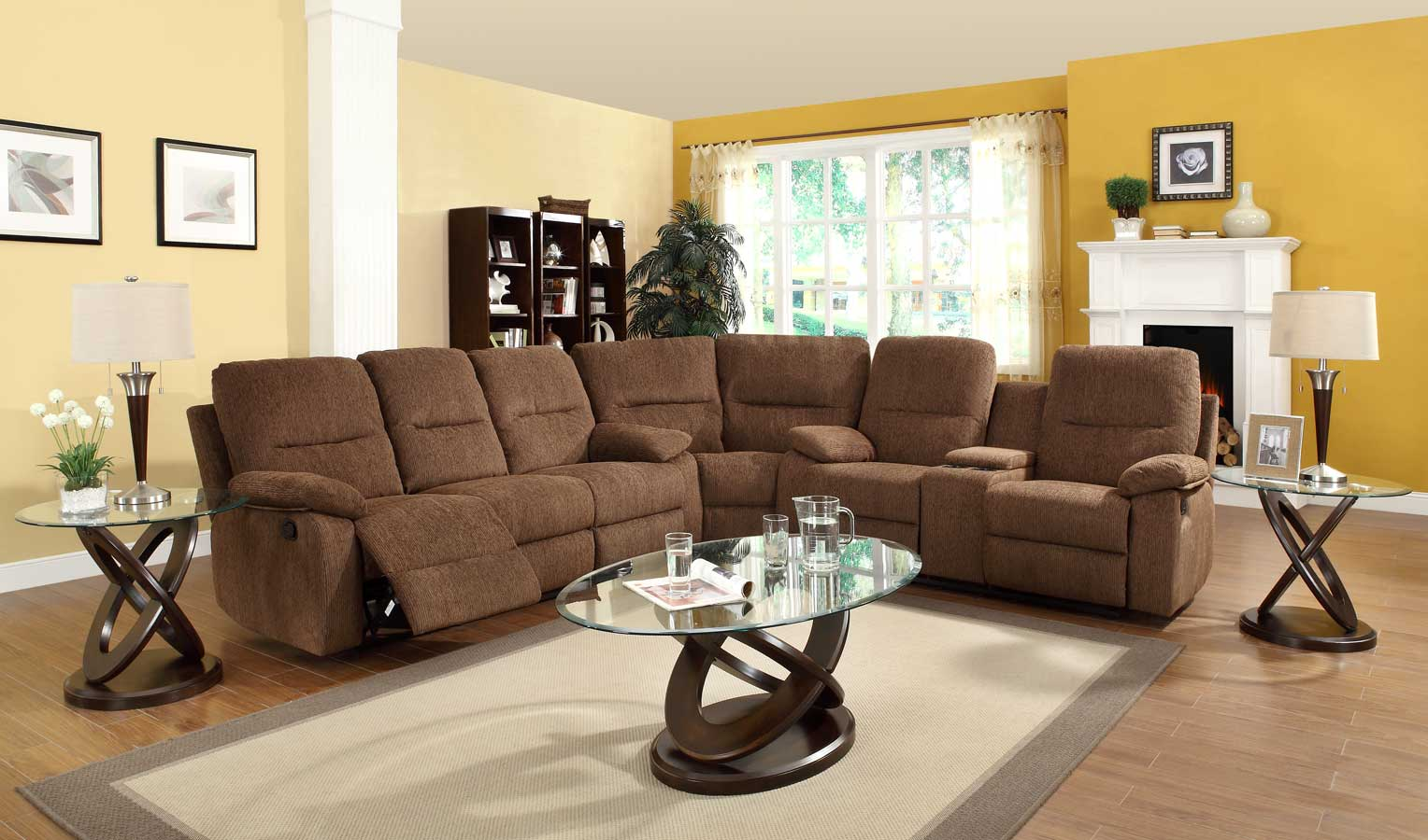 Homelegance Marianna Modular Reclining Sectional Sofa Set - Dark Brown Chenille & Homelegance Marianna Modular Reclining Sectional Sofa Set - Dark ... islam-shia.org