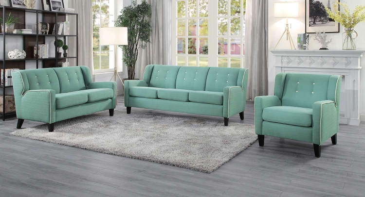 Roweena Sofa Set - Teal