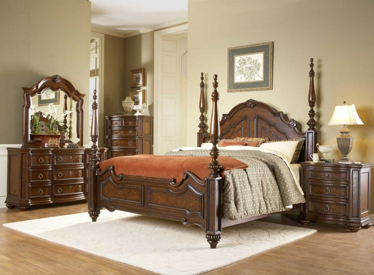 traditional bedroom set. Prenzo Poster Bedroom Collection Traditional Set  HomeleganceFurnitureOnline com