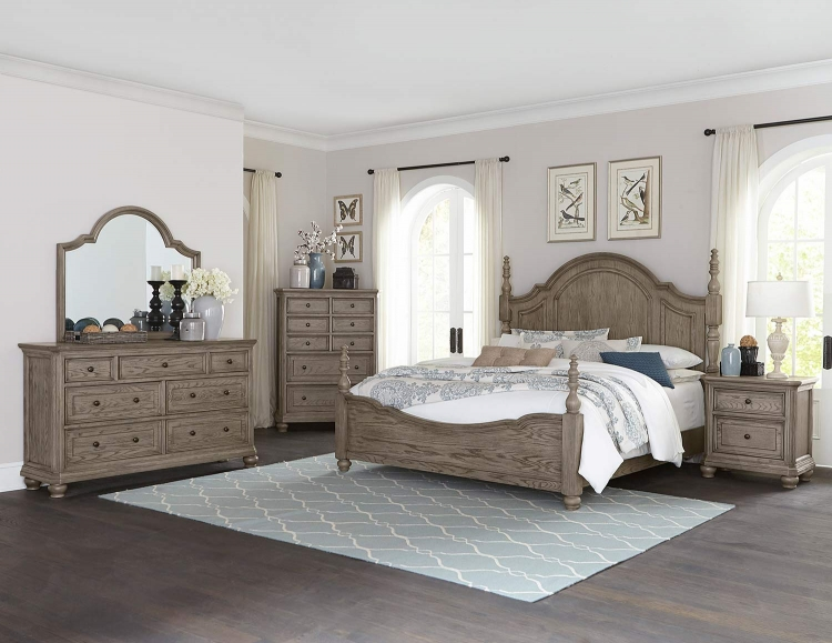 Lavonia Poster Bedrom Set - Wire-Brushed
