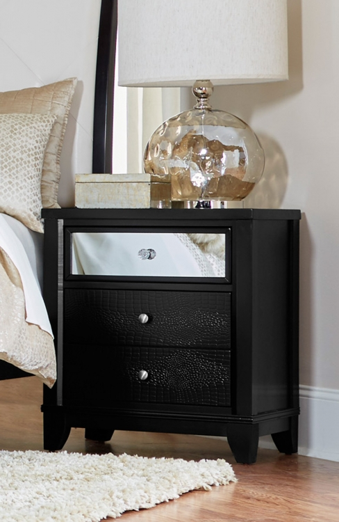 Odelia Night Stand - Black