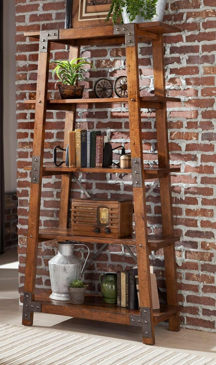 Holverson Bookcase - Rustic Brown Milk Crate