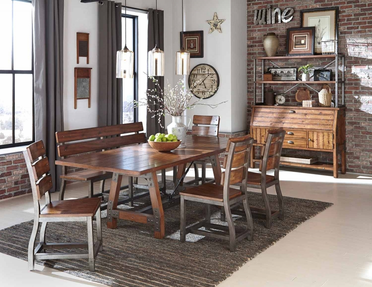 Holverson Dining Set - Rustic Brown