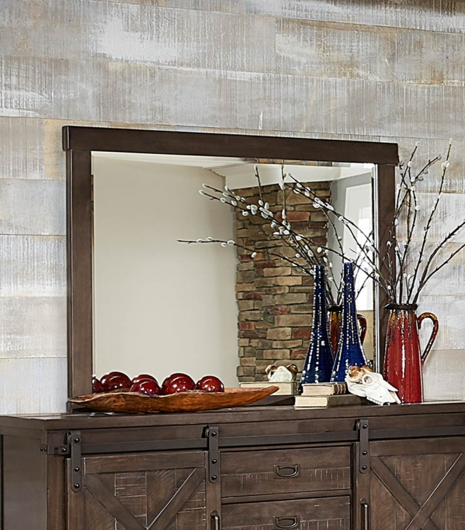 Hill Creek Mirror - Rustic Brown