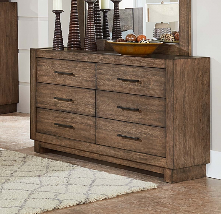 Korlan Dresser - Brown Oak