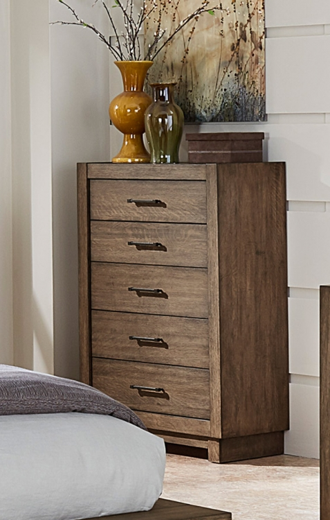 Korlan Chest - Brown Oak