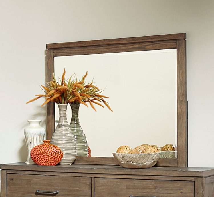 Lyer Mirror - Rustic Brown